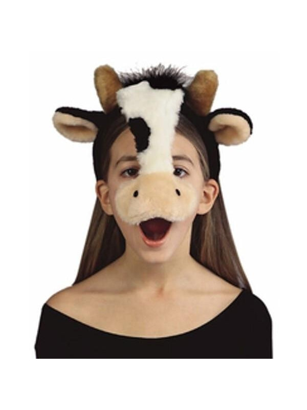 Child's Cow Plush Animal Headpiece-COSTUMEISH