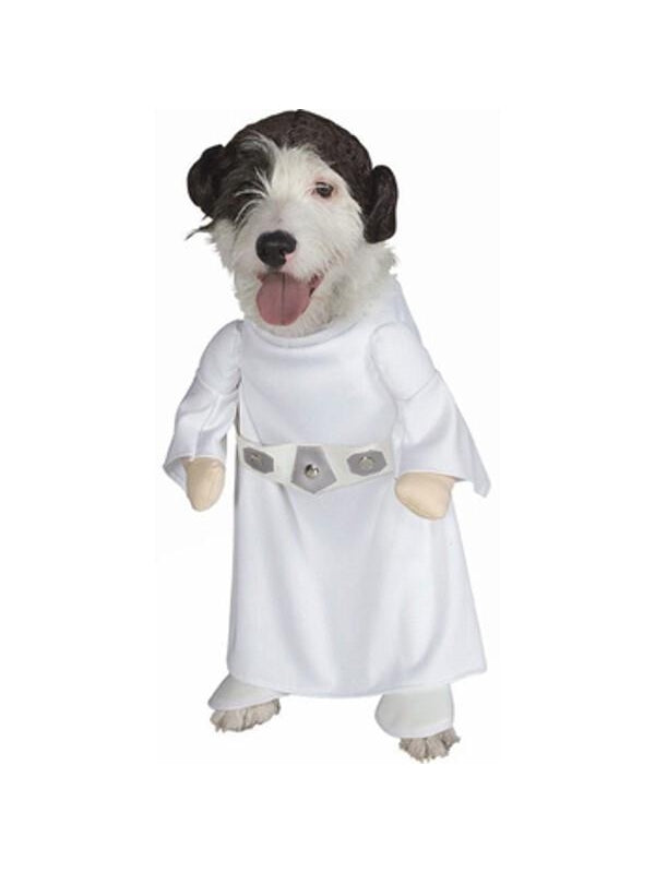 Princess Leia Dog Costume-COSTUMEISH