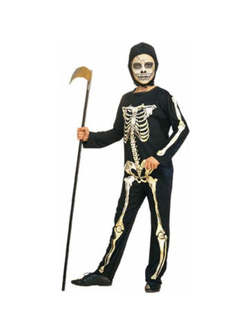Child's Skeleton Costume w/ Hood-COSTUMEISH