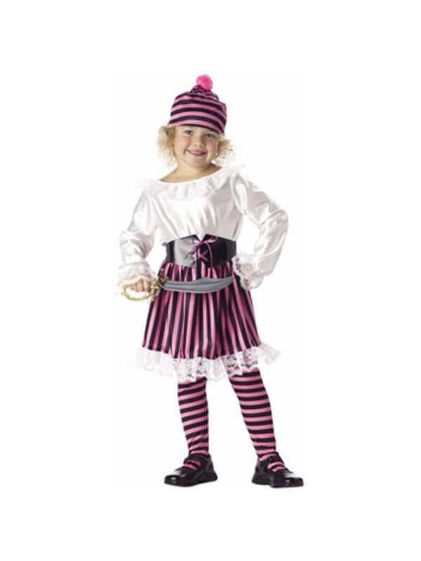 Toddler Little Girl Pirate Costume-COSTUMEISH