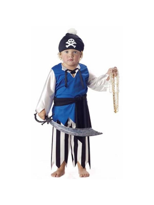 Toddler Peewee Pirate Costume-COSTUMEISH