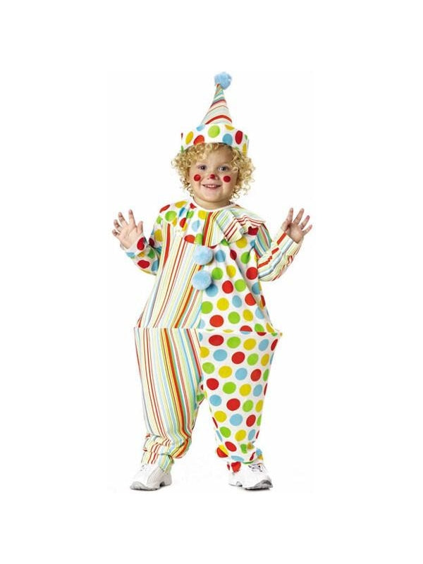 Toddler Hooped Clown Costume-COSTUMEISH