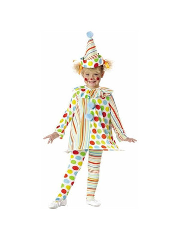 Toddler Girls Candy Clown Costume