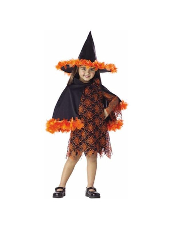 Toddler Orange Witch Costume-COSTUMEISH