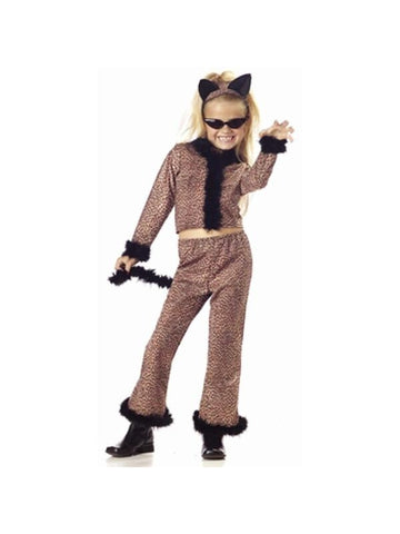 Child's Leopard Girl Suit Costume