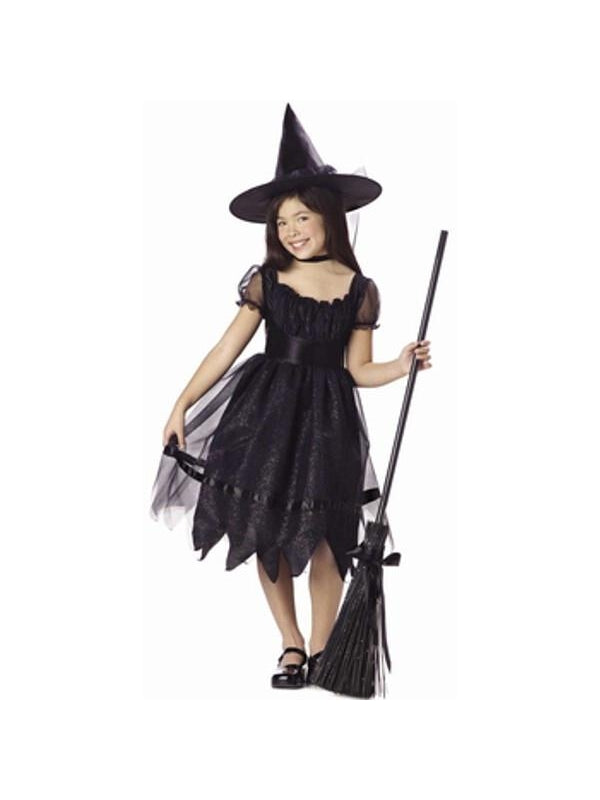 Child's Enchanted Black Witch Costume-COSTUMEISH