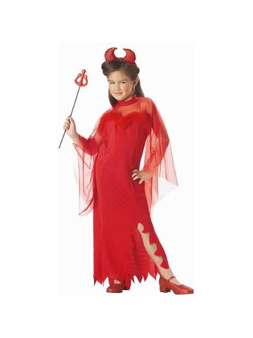 Child's Sheer Devil Girl Costume