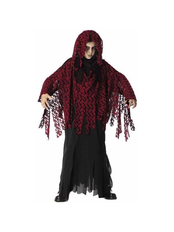 Child's Burgundy Graveyard Ghoul Costume-COSTUMEISH