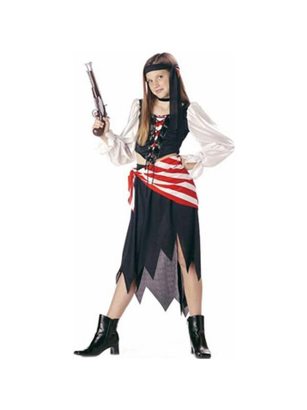 Child's Pirate Girl Costume-COSTUMEISH