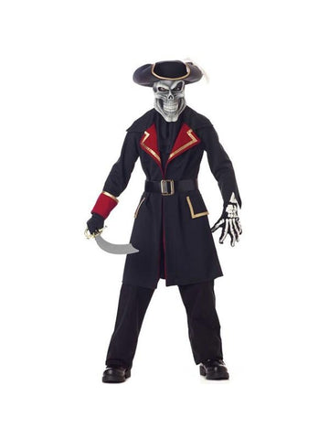 Child's Captain Scurvy Skull Pirate Costume-COSTUMEISH