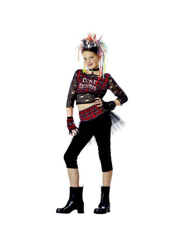 Child's Punk Rock Girl Costume-COSTUMEISH