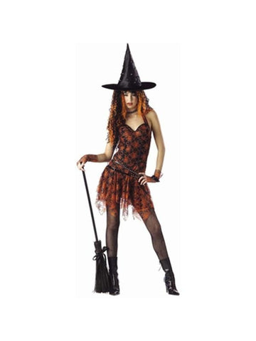 Teen Orange Spider Witch Costume