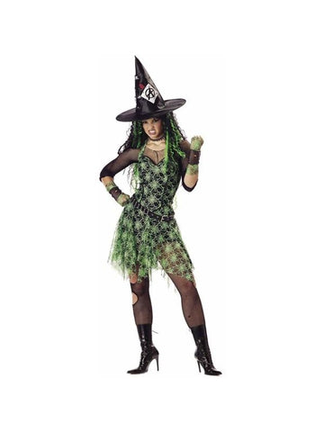 Adult Punk Rocker Witch Costume-COSTUMEISH