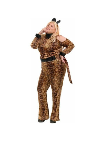 Adult Plus Size Leopard Costume-COSTUMEISH