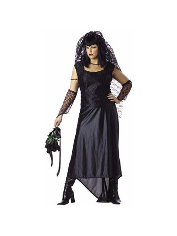 Adult Plus Size Gothic Bride Costume-COSTUMEISH
