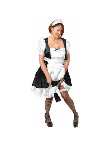 Adult Plus Size French Maid Costume-COSTUMEISH