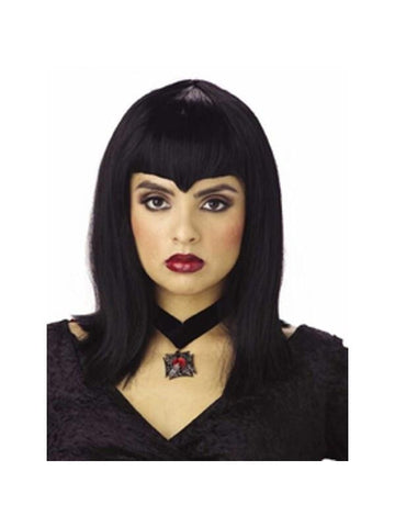 Adult Black Vampiress Wig-COSTUMEISH