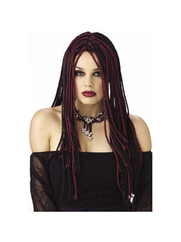 Twisted Long Burgundy & Black Wig