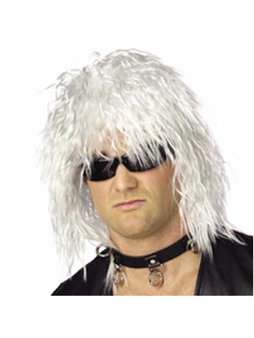80's White Rock Star Wig-COSTUMEISH