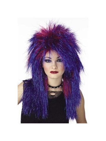 Women's Vibe Blue Shimmer Wig-COSTUMEISH