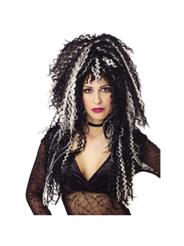 Black & White Witch Wig-COSTUMEISH