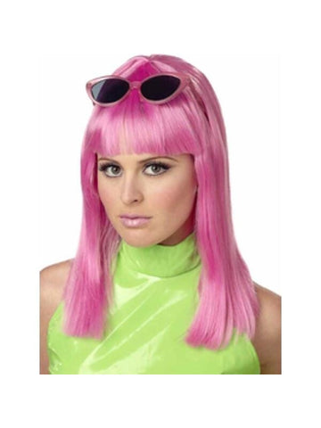Women's Pink Page Boy Wig