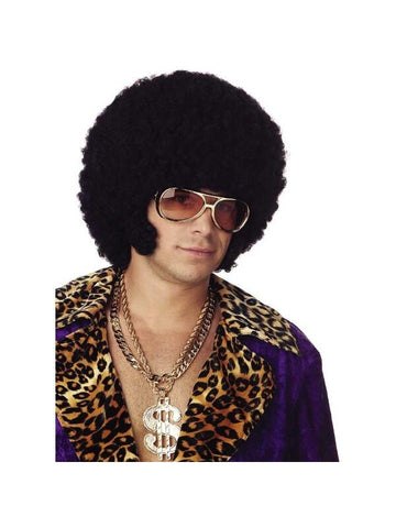 Chopped Black Afro Wig-COSTUMEISH