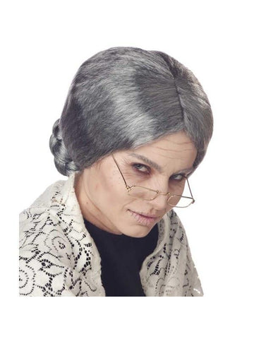 Adult Woman's Old Lady Grey Wig