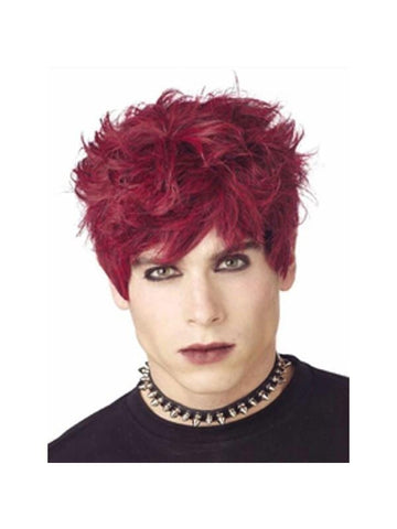 Black & Red Mod Monster Wig-COSTUMEISH