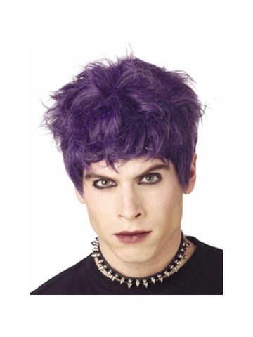 Black & Purple Mod Monster Wig