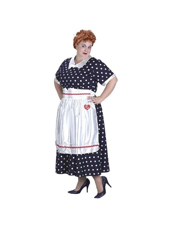 Adult Plus Size I Love Lucy Costume-COSTUMEISH