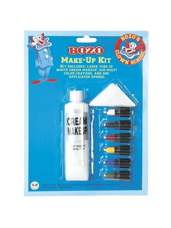Adult Bozo The Clown Make Up Kit-COSTUMEISH