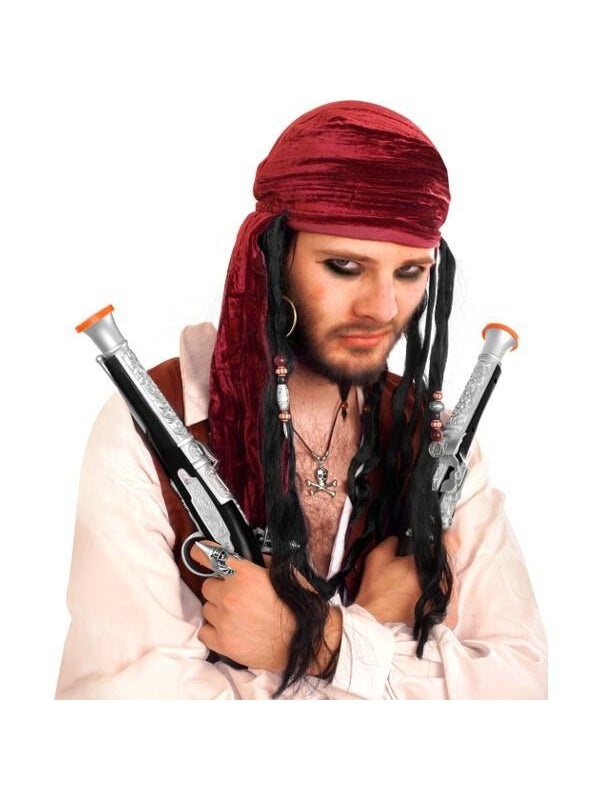 Adult Deluxe Pirate Scarf With Dreads-COSTUMEISH