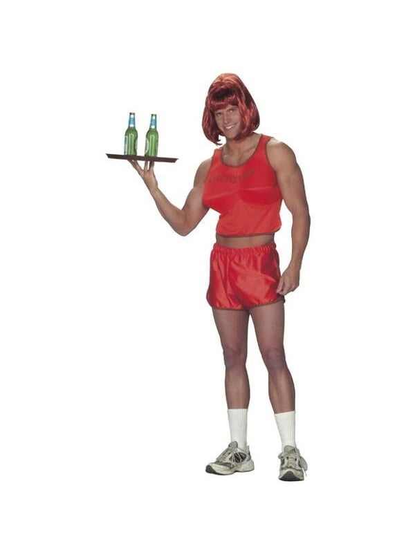 Adult Hooters Guy Waitress Costume-COSTUMEISH
