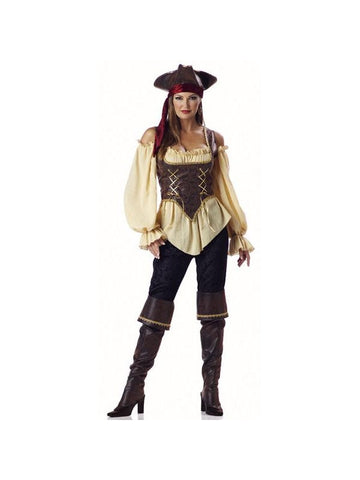 Adult Rustic Pirate Lady Costume