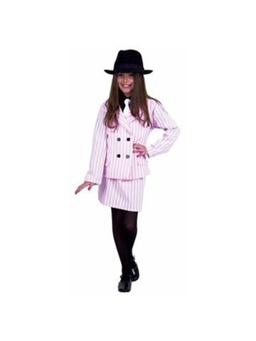 Child's Pink Gangster Moll Costume-COSTUMEISH
