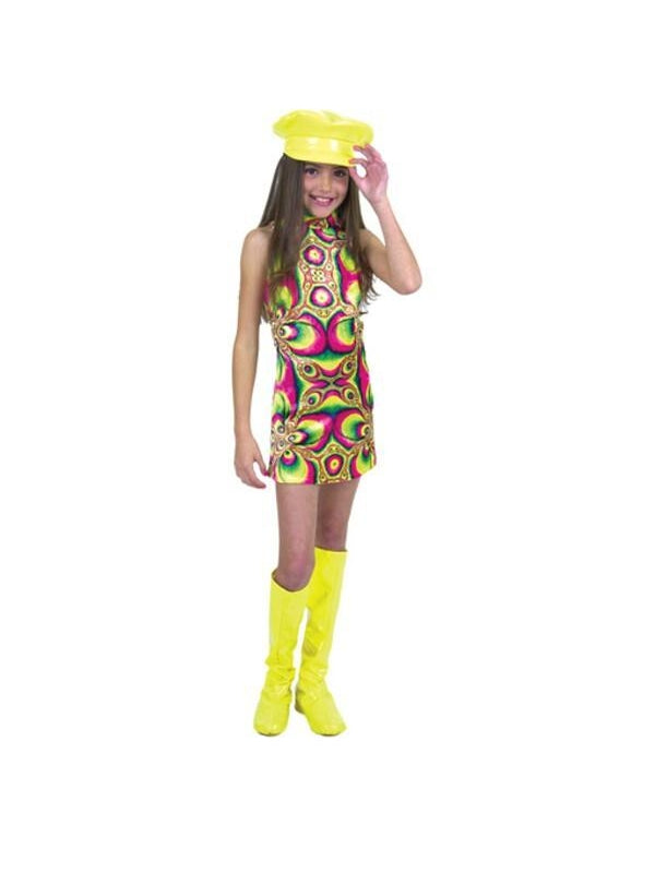 Child's Swirl Go Go Dress Costume-COSTUMEISH