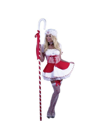 Adult Red Sexy Little Bo Peep Costume