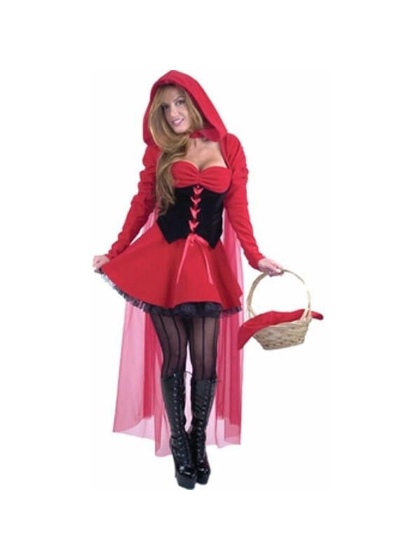 Adult Sexy Red Riding Hood Costume-COSTUMEISH