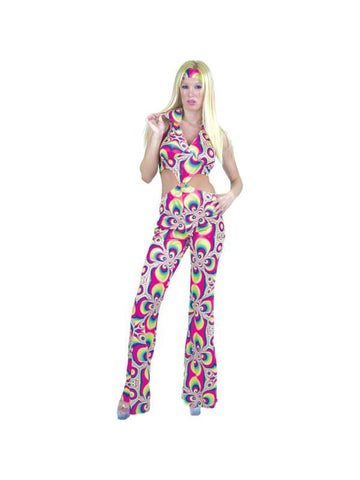 Adult Psychedelic Disco Girl Costume