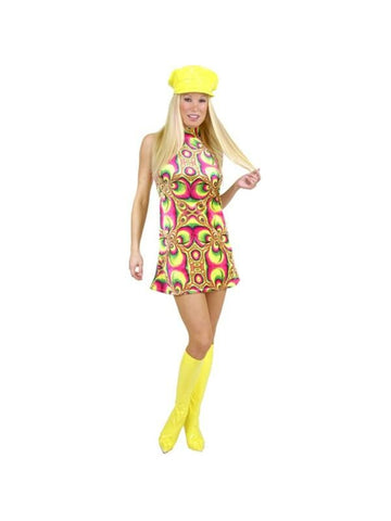 Adult Psychedelic Go Go Girl Costume