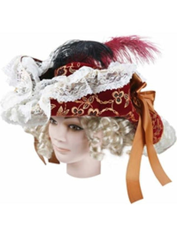 Women's Wine Lacey Pirate Hat-COSTUMEISH