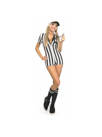 Adult Sexy Referee Bodysuit Costume-COSTUMEISH