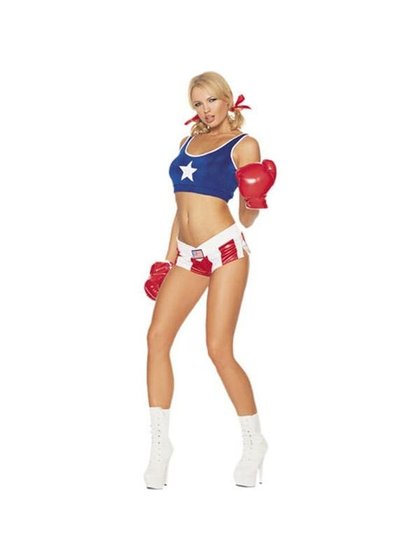 Adult Sexy Girl Boxer Costume-COSTUMEISH