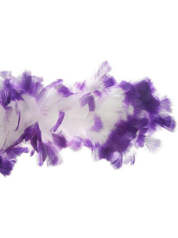 White/Purple Feather Boa