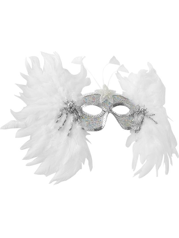 Snowflake Feather Eye Mask-COSTUMEISH