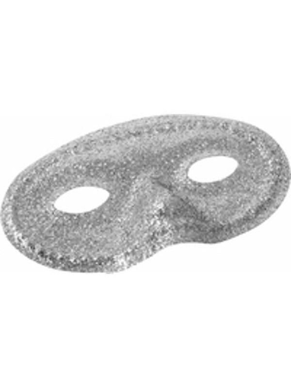 Adult Silver Glitter Eye Mask-COSTUMEISH