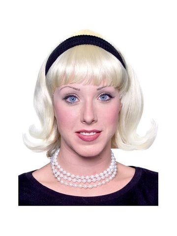 Women's 50s Blond Flip Wig-COSTUMEISH