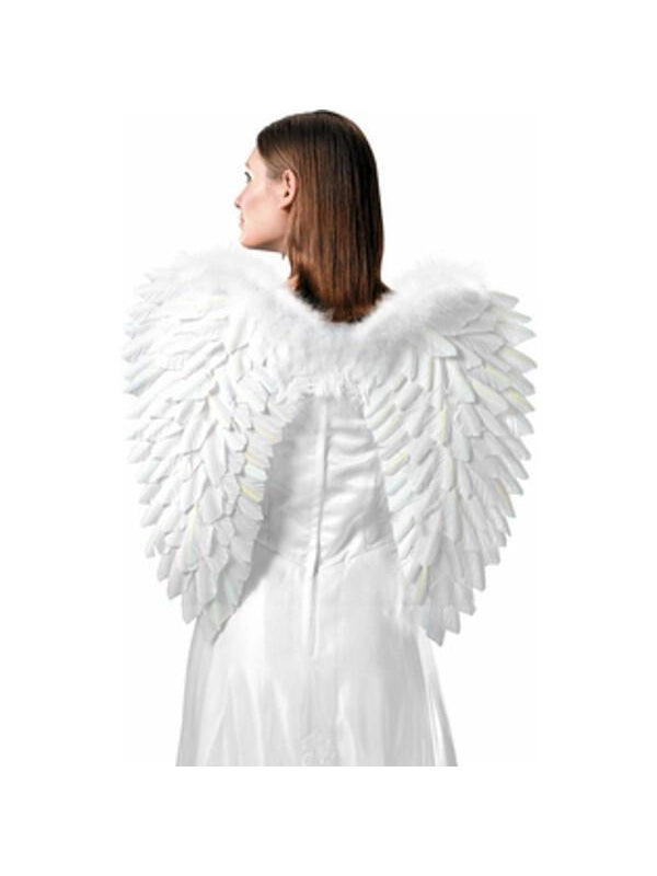 Adult White Angel Costume Wings-COSTUMEISH