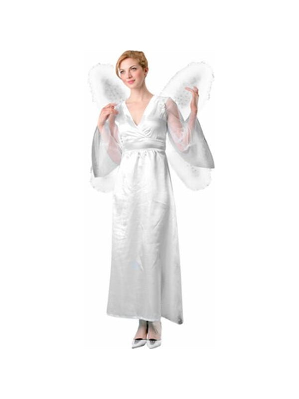 Adult White Marabou Butterfly Wings-COSTUMEISH